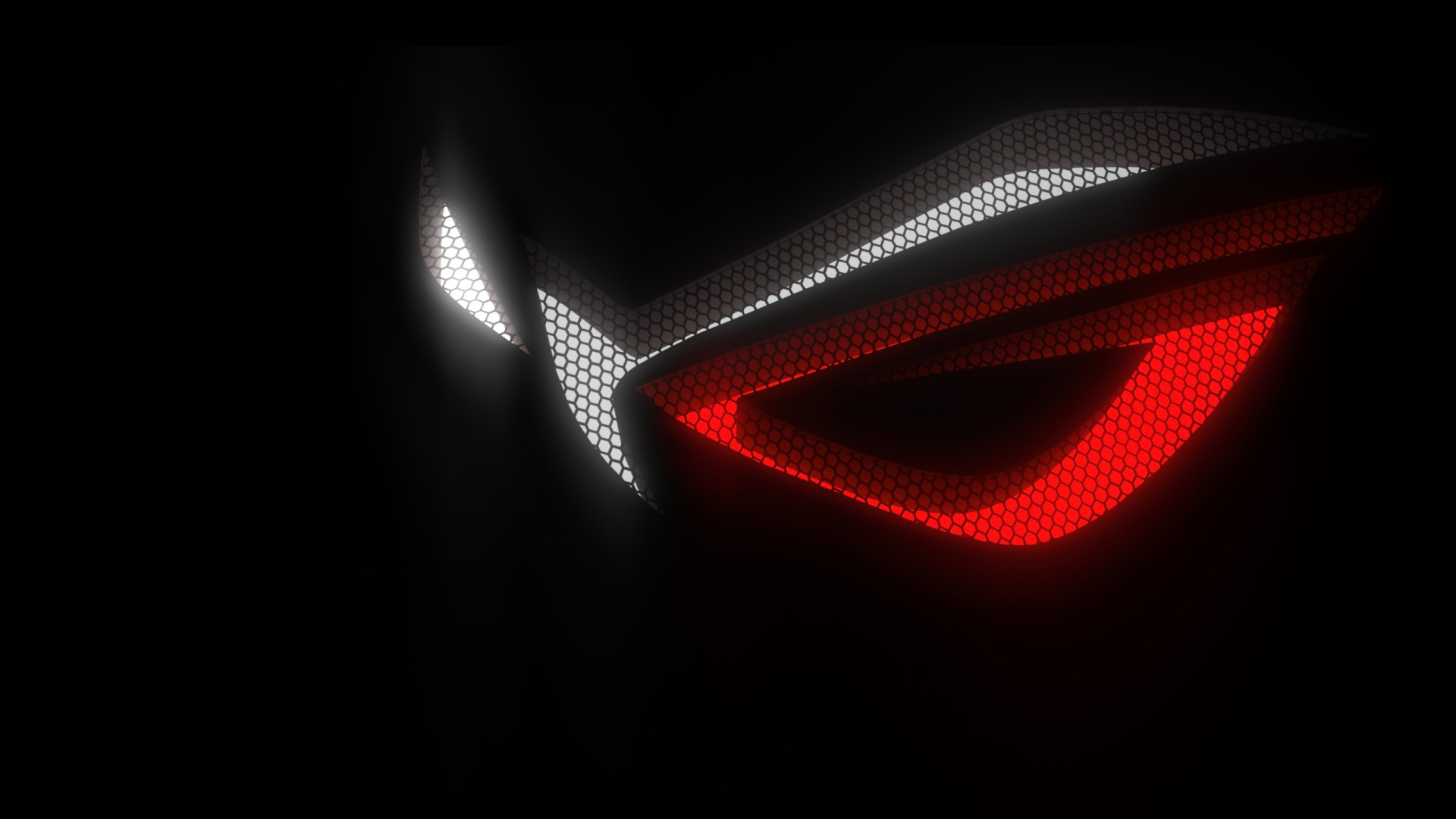 asus rog republic of gamers logo hex background hd 1920x1080 1080p 1920x1080