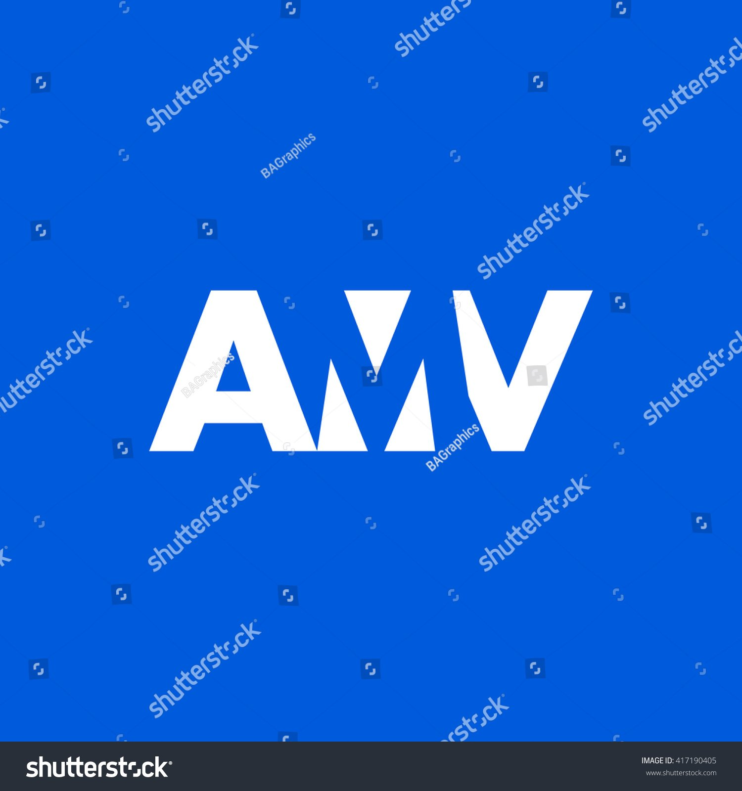 Amv Logo Vector Graphic Branding Letter Stock Vector Royalty 1500x1600