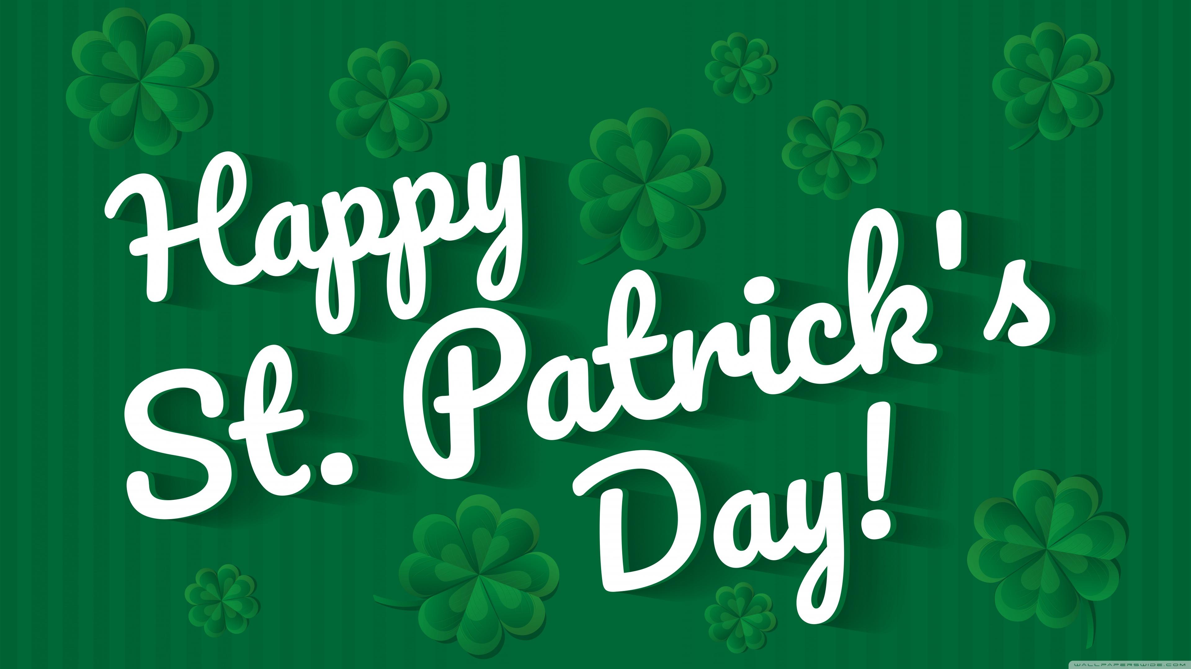 Happy Saint Patricks Day 2020 Ultra HD Desktop Background 3840x2160