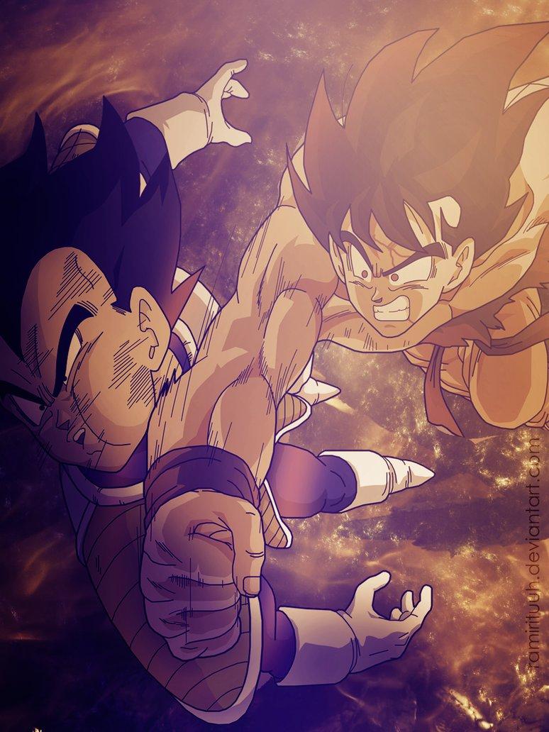 Wallpaper Goku vs Vegeta by ramirituuh on deviantART 774x1032