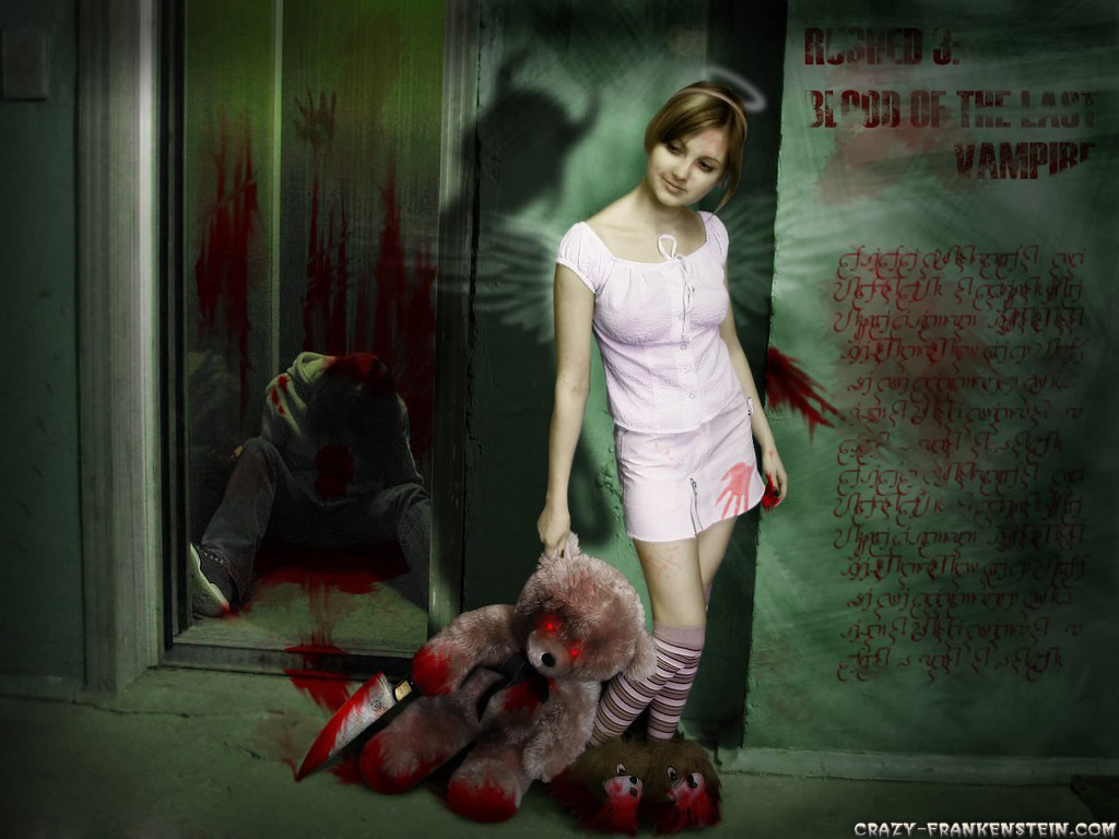 Wallpaper Evil teddy bear wallpapers 1024x768