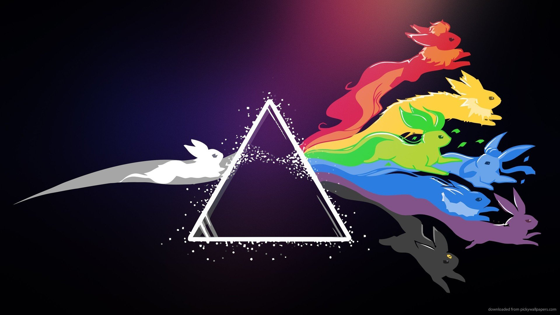 Blackberry iPad Evee Pink Floyd Style Screensaver For Kindle3 And DX 1920x1080