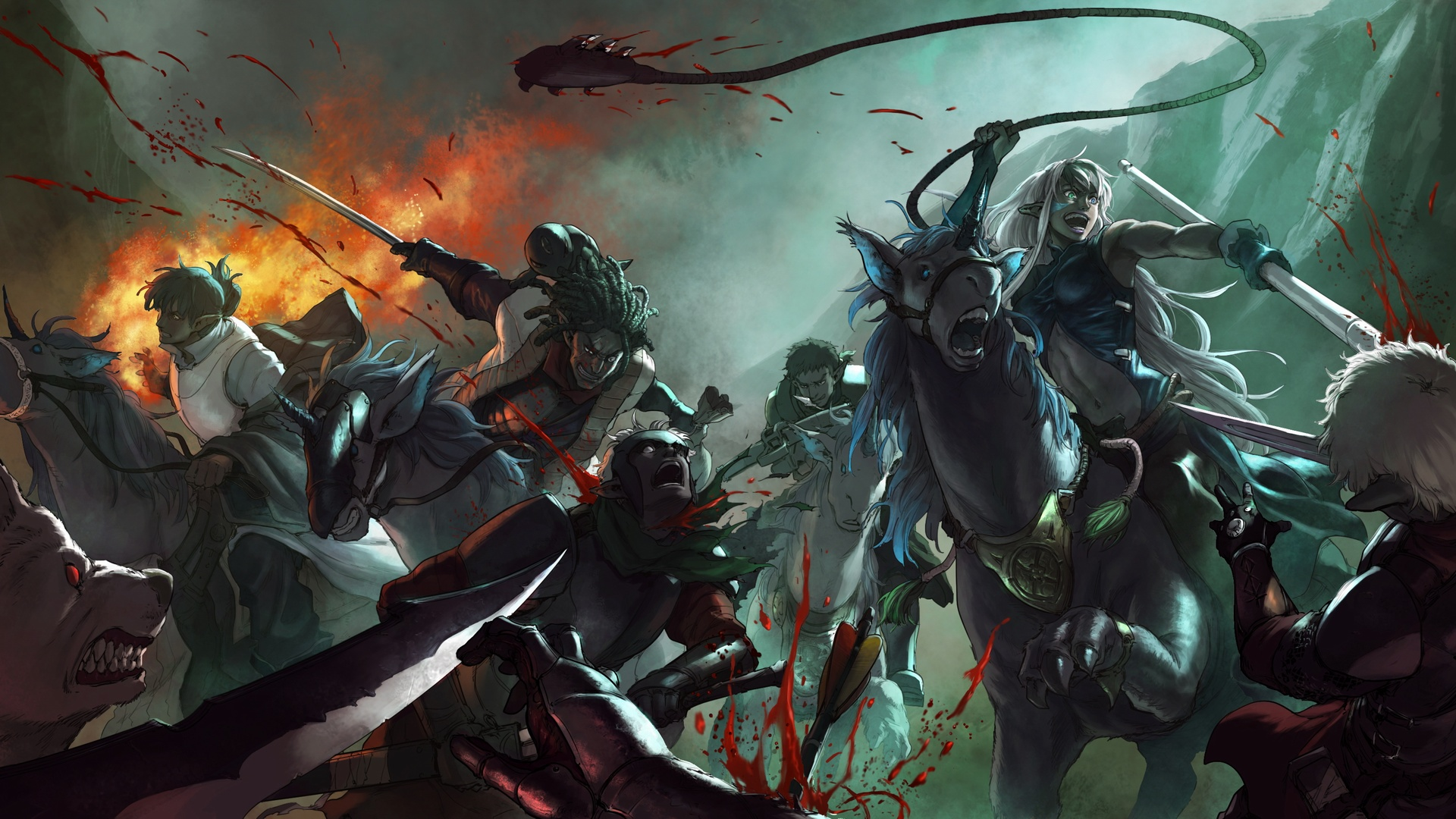 Epic Battle Wallpaper Epic battle drawn by koong for 1920x1080