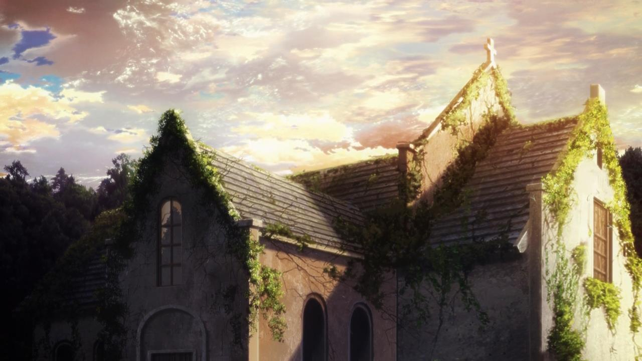 fate stay night unlimited blade works 16 abandoned church background 1280x720