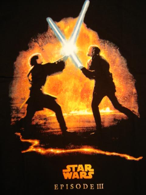 Anakin vs Obi Wan Lava Background Black T Shirt   Star Wars Collectors 480x640