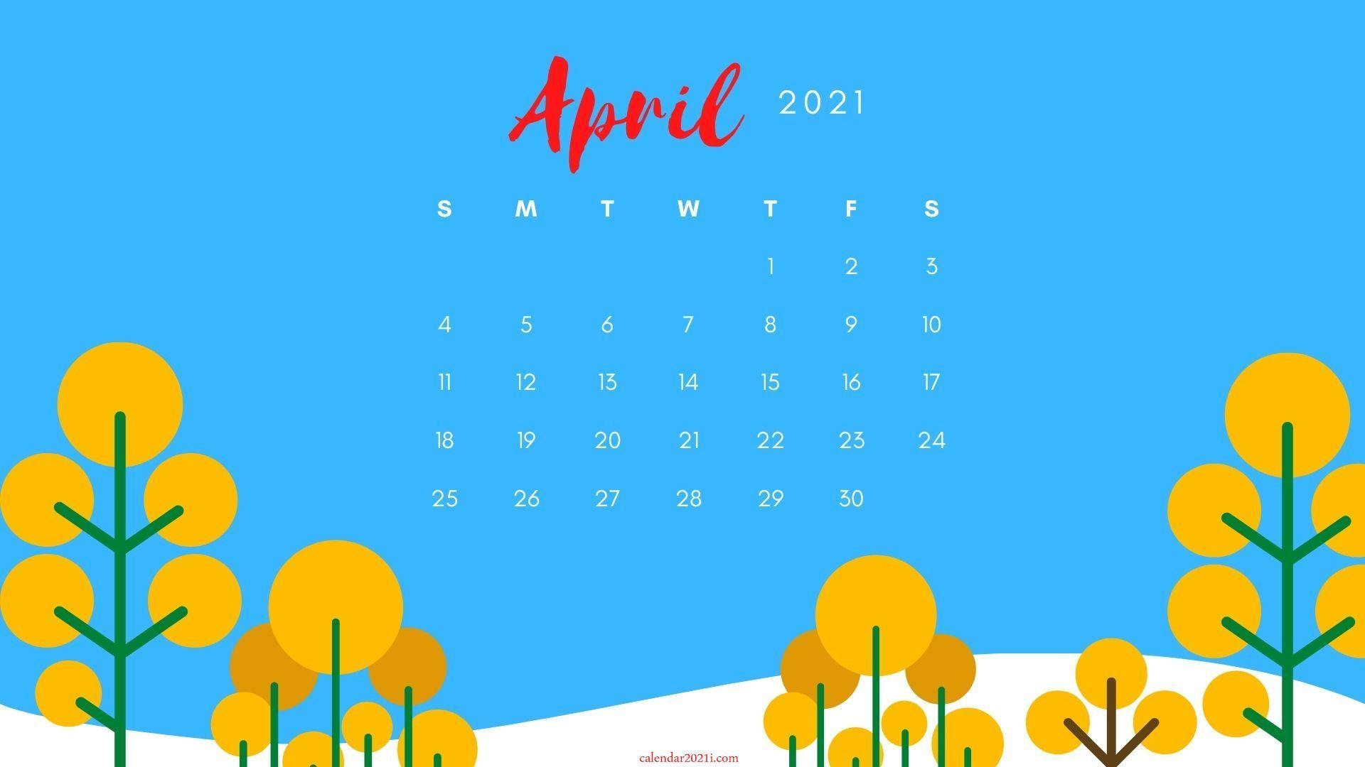 April 2021 Calendar Wallpaper Download Calendar wallpaper 1920x1080