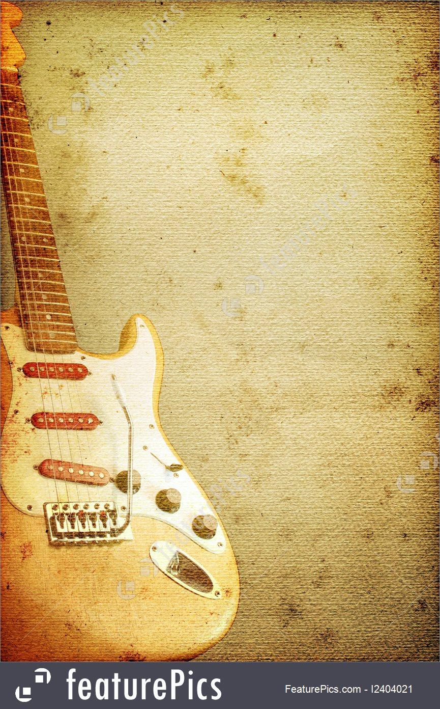 Guitar Background Stock Illustration I2404021 at FeaturePics 865x1392