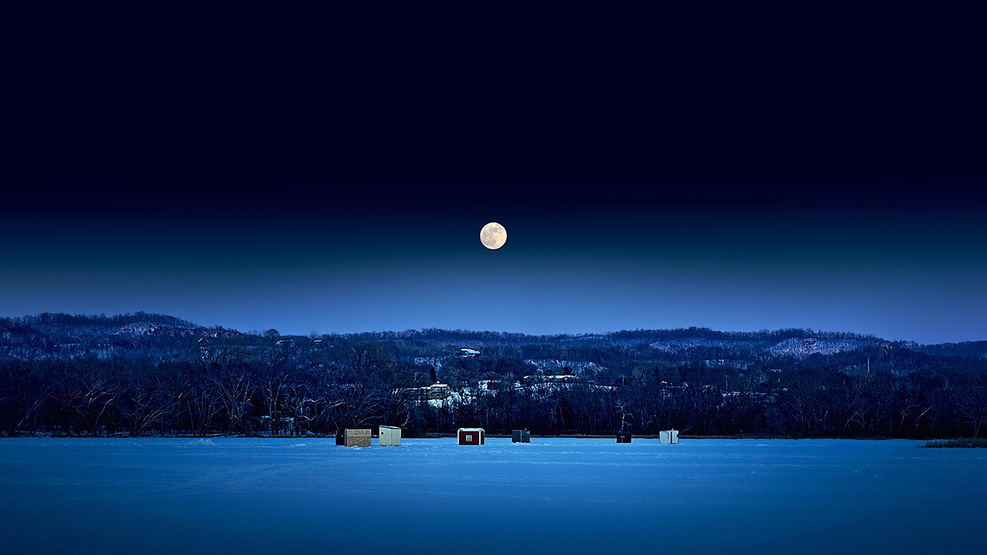 Beautiful Winter Night Wallpaper 1920x1080