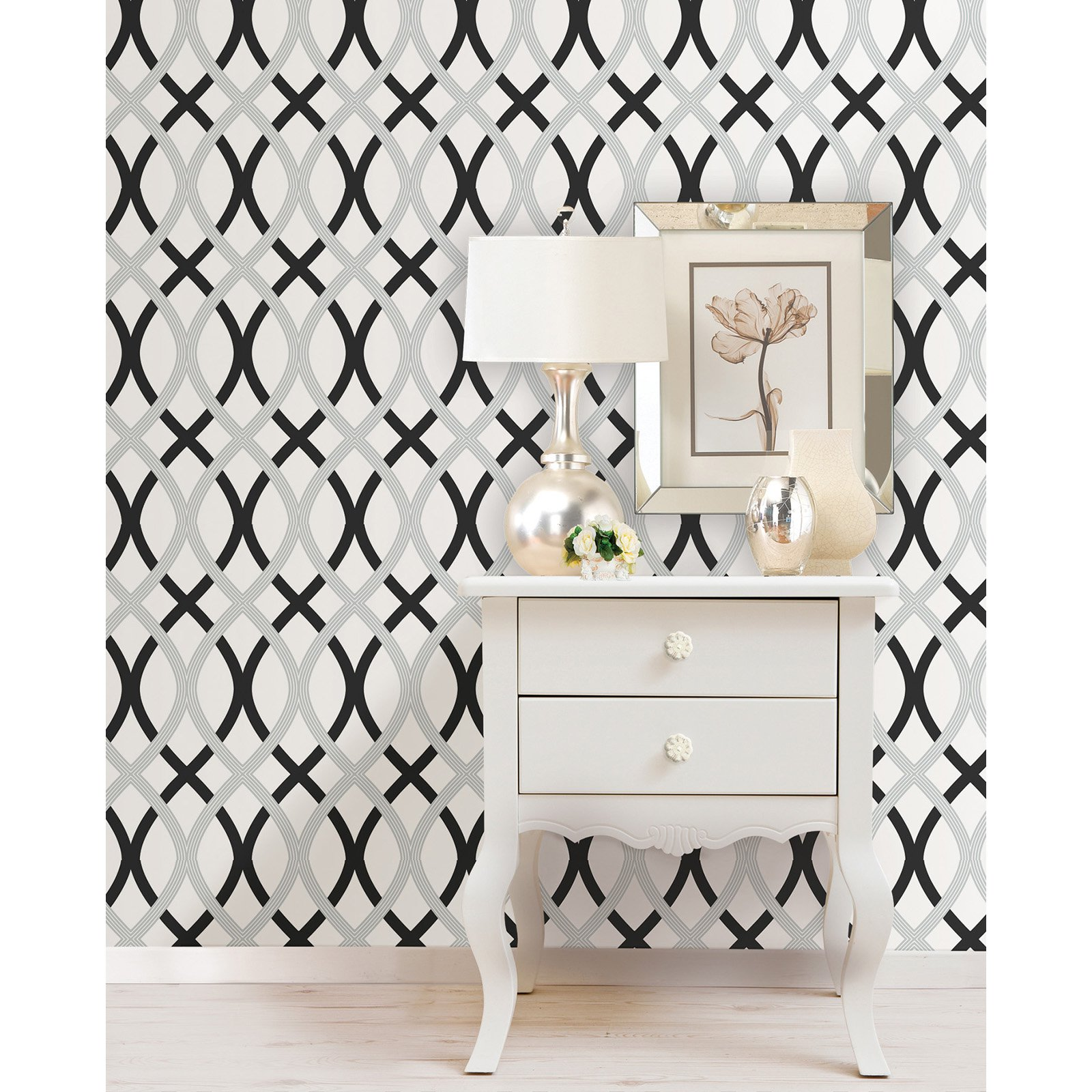 and Silver Lattice Peel and Stick Wallpaper   Wallpaper at Hayneedle 1600x1600