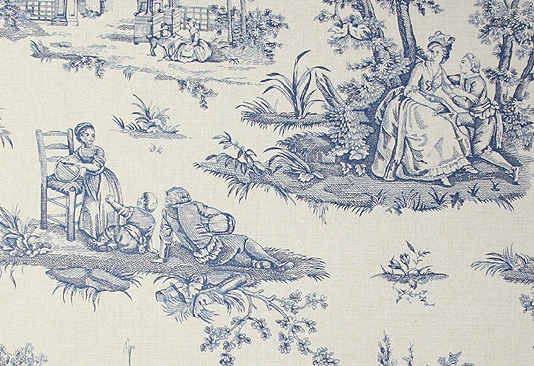 Toile Wallpaper A traditional small scale toile de jouy wallpaper 534x366