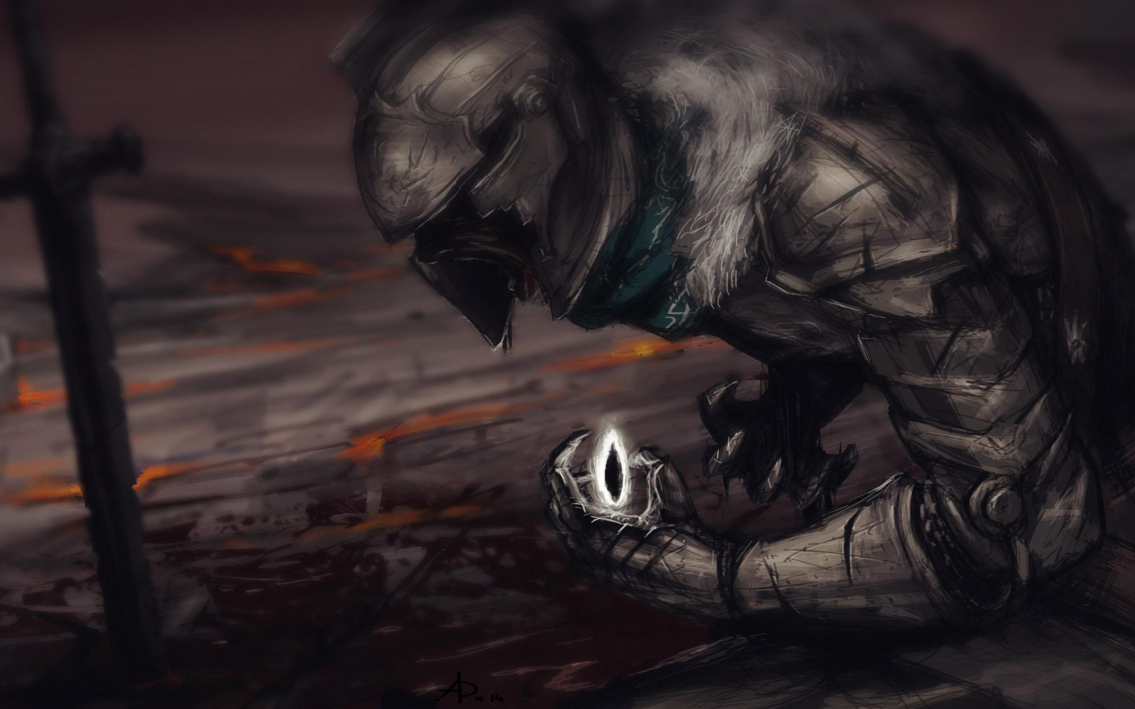 dark souls ii art armor warrior 3840x2400