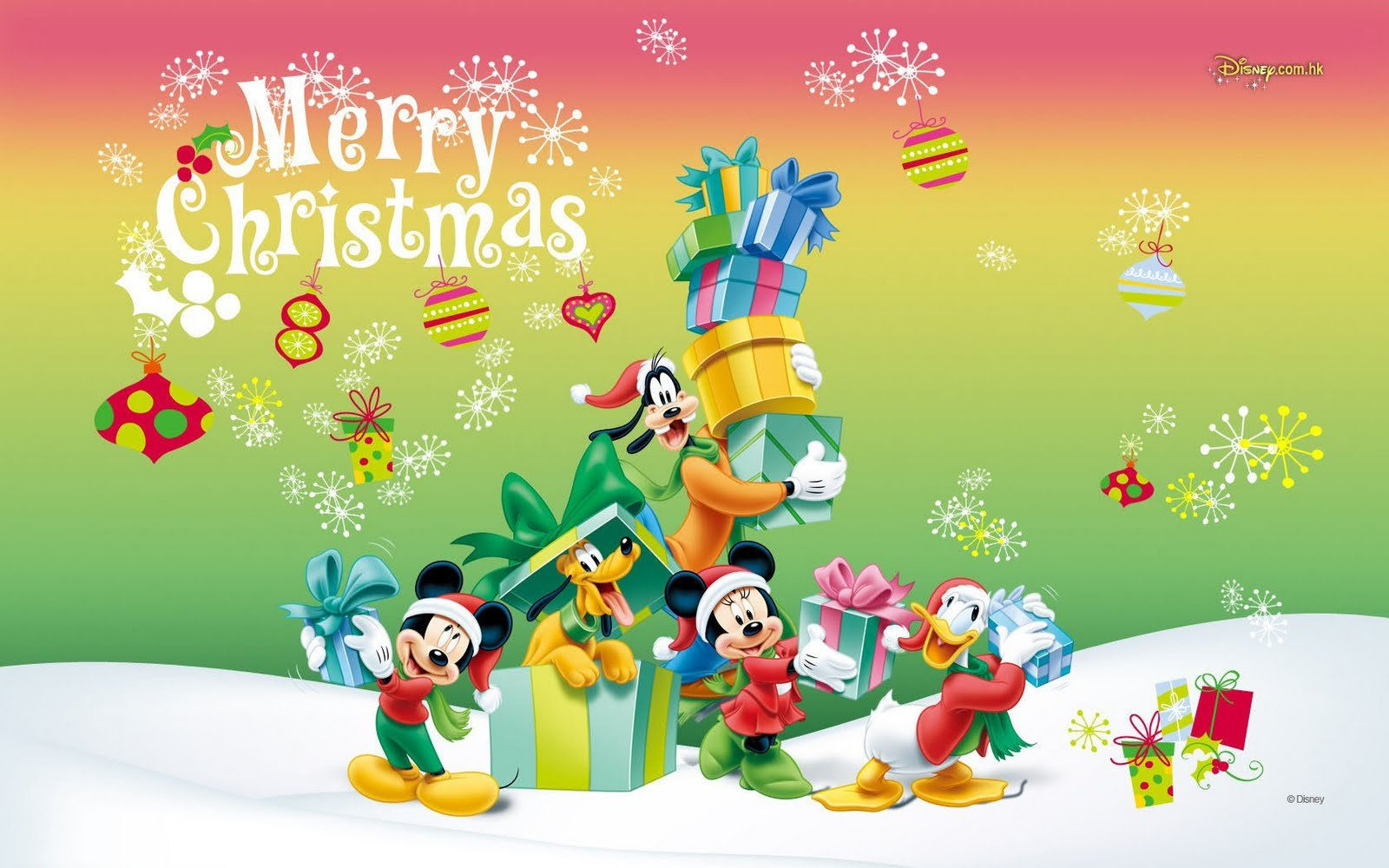 Disney Christmas Wallpapers Wallpaper Mansion 1600x1000