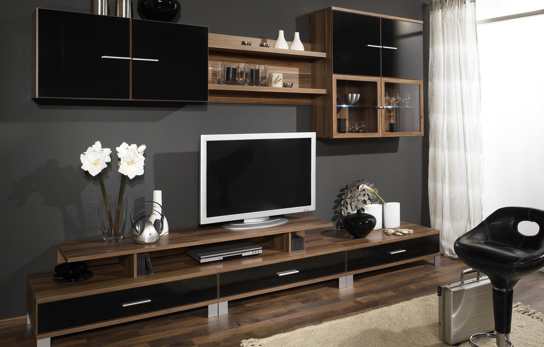 Wallpaper design room tree furniture interior TV wardrobe 1332x850
