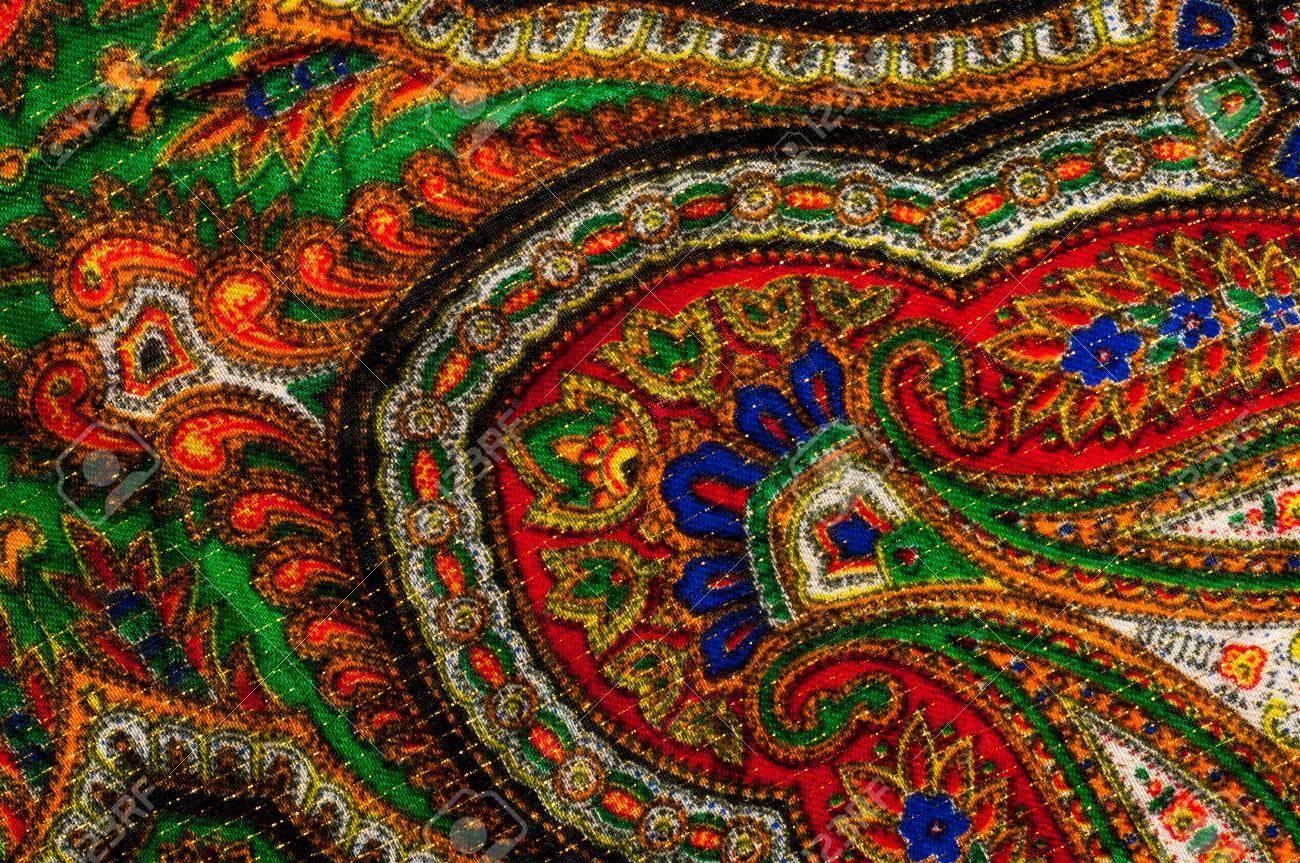 Texture Background Pattern Womans Headscarf Shawl Bright 1300x863