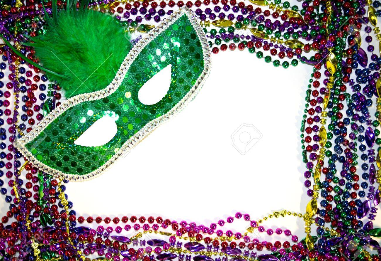 Mardi Gras Masquerade Mask On A Background Of Colorful Mardi 1300x889