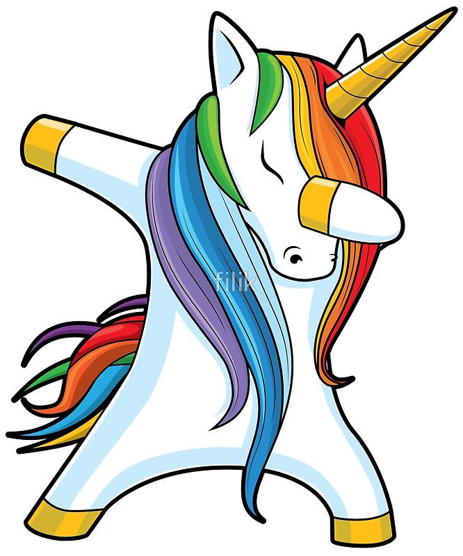 Unicorn Dabbing   Dab Dance Tshirt Photographic Prints 666x800