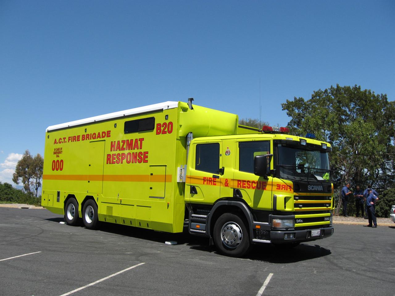 Vehicles Scania Fire Truck Wallpaper 1280x960