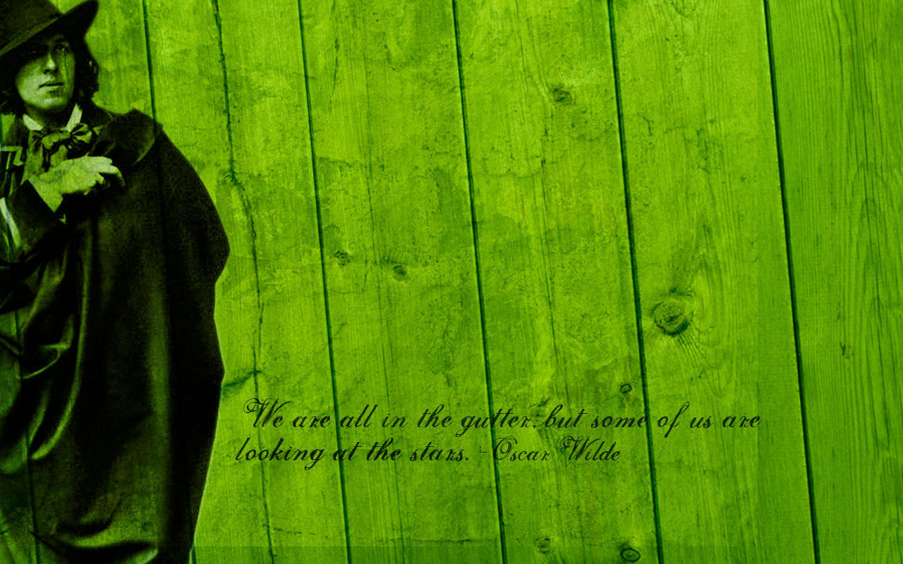 We are all in the gutter   Oscar Wilde Wallpaper 5359915 1280x800