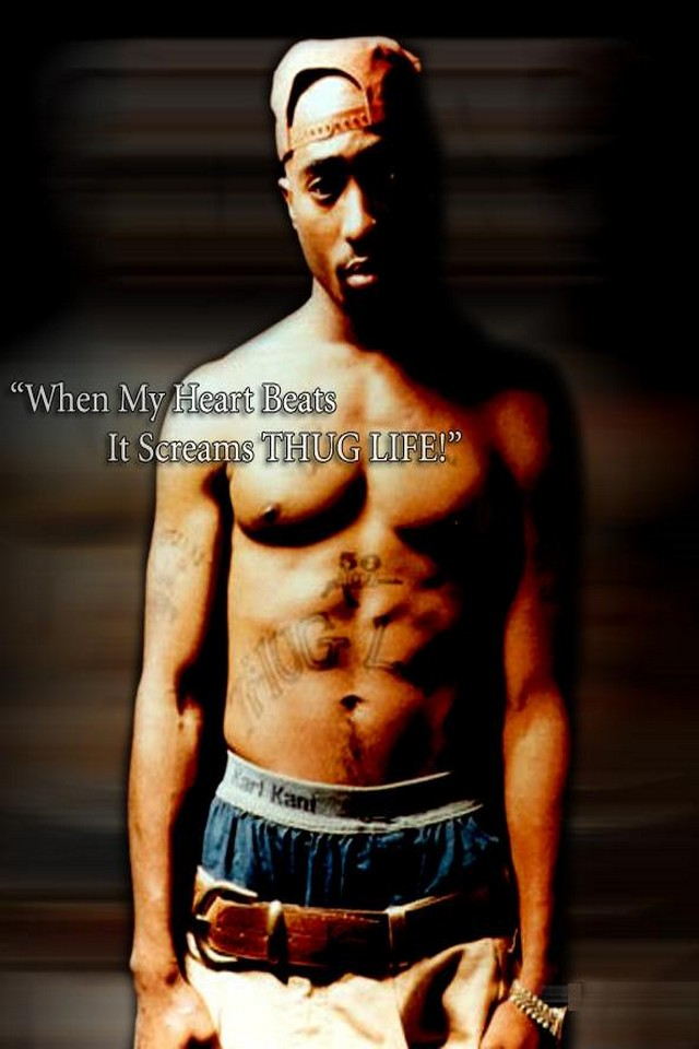 Tupac thug life   Download iPhoneiPod TouchAndroid Wallpapers 640x960