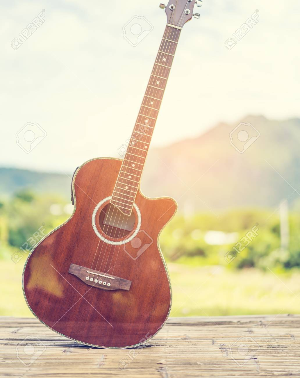 Guitar Nature And Mountain Background Music Guitar And Nature 1032x1300