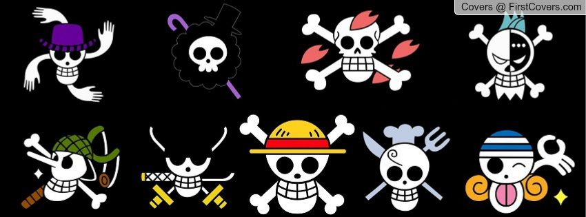 one piece jolly rogers Facebook Profile Cover 842788 850x315