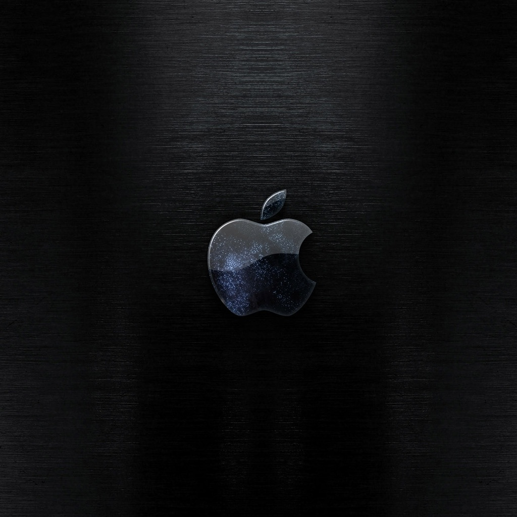 Dark Apple logo iPad Wallpaper   Download iPad wallpapers 1024x1024