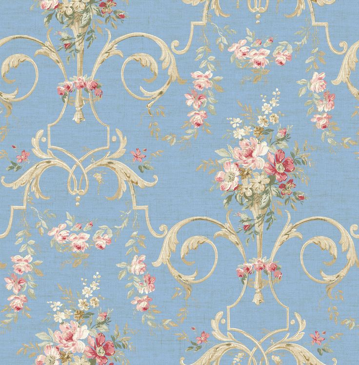 Wallquest French Linen Collection Cottage Style Pinterest 736x748