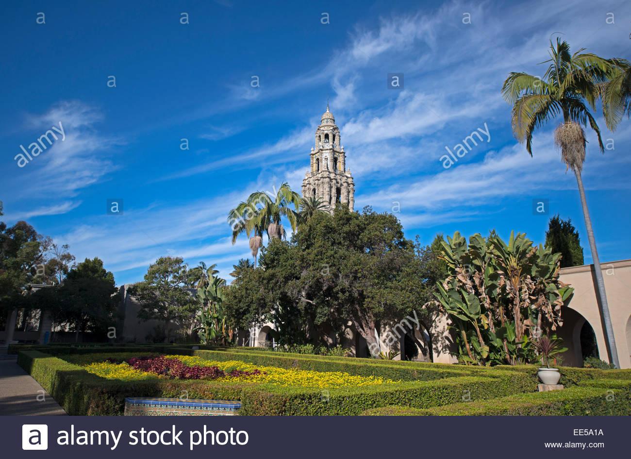 Alcazar Garden California Tower in Background Balboa Pack San 1300x945