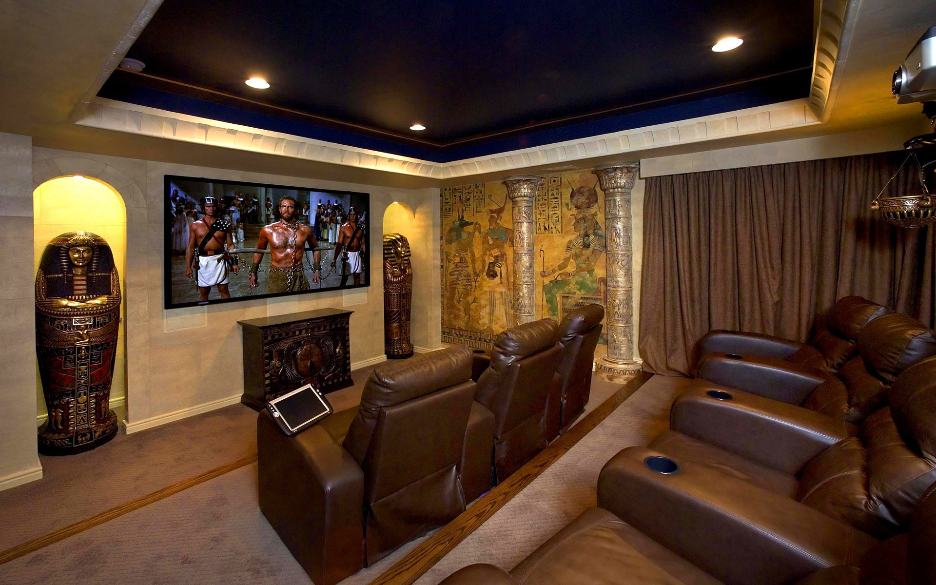 Acoustic wallpaper for home theater wallpapersafari - Home theater wallpaper ...