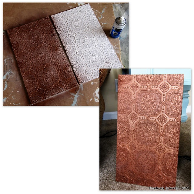 and Home Decor Faux Hammered Copper Tutorial wallpaper painted 640x640