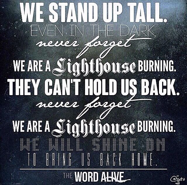 Lighthouse By The Word Alive lyrics Inspiring Messages Pinterest 640x630