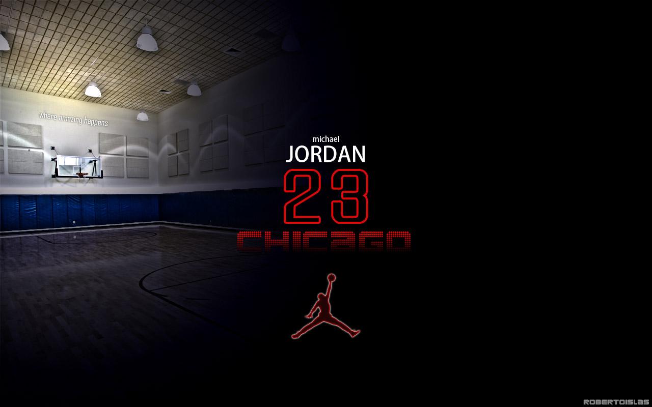 Michael Jordan Jersey 23 Wallpaper 1280x800