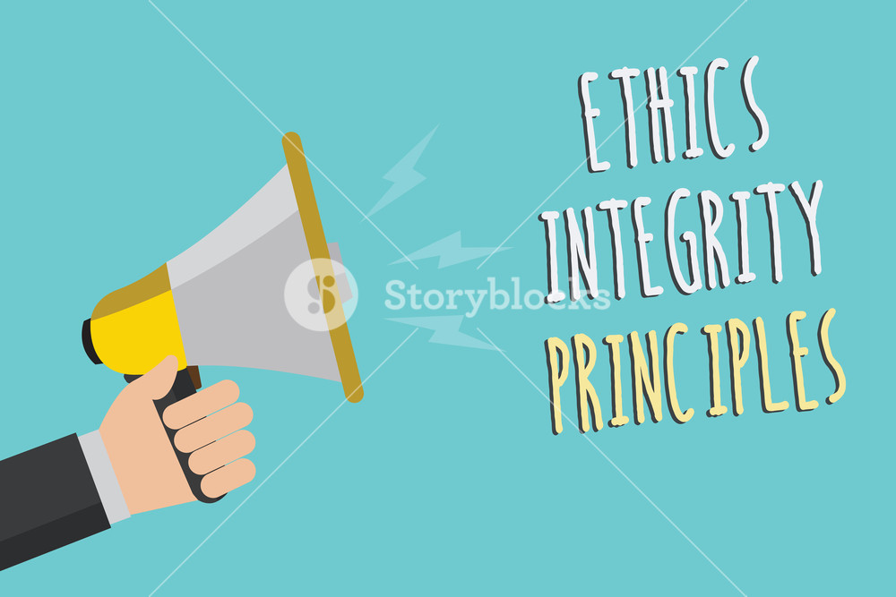Text sign showing Ethics Integrity Principles Conceptual photo 1000x667