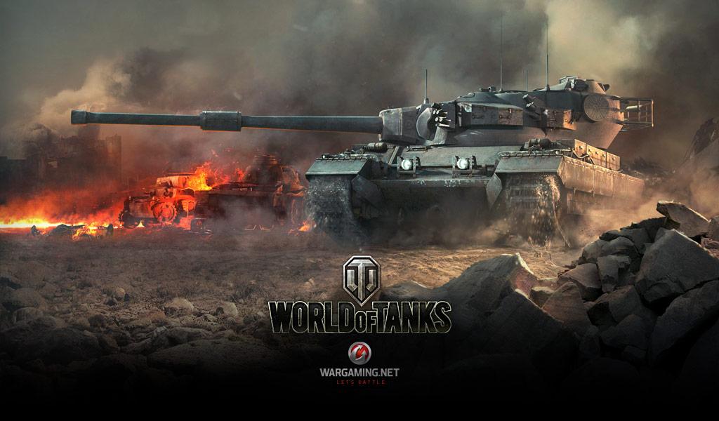Menu Screen Wallpaper Conqueror Tanks World of Tanks media 1024x600