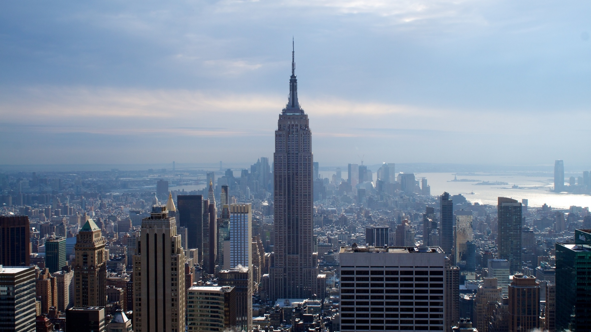 Blue Empire State Building New York 1920 x 1080 Download Close 1920x1080