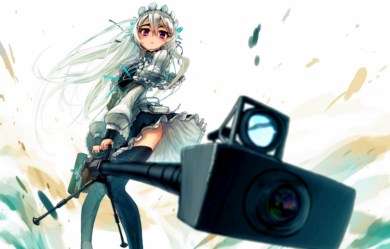 Wallpaper look girl weapons sight sniper rifle clips Chaika 1332x850