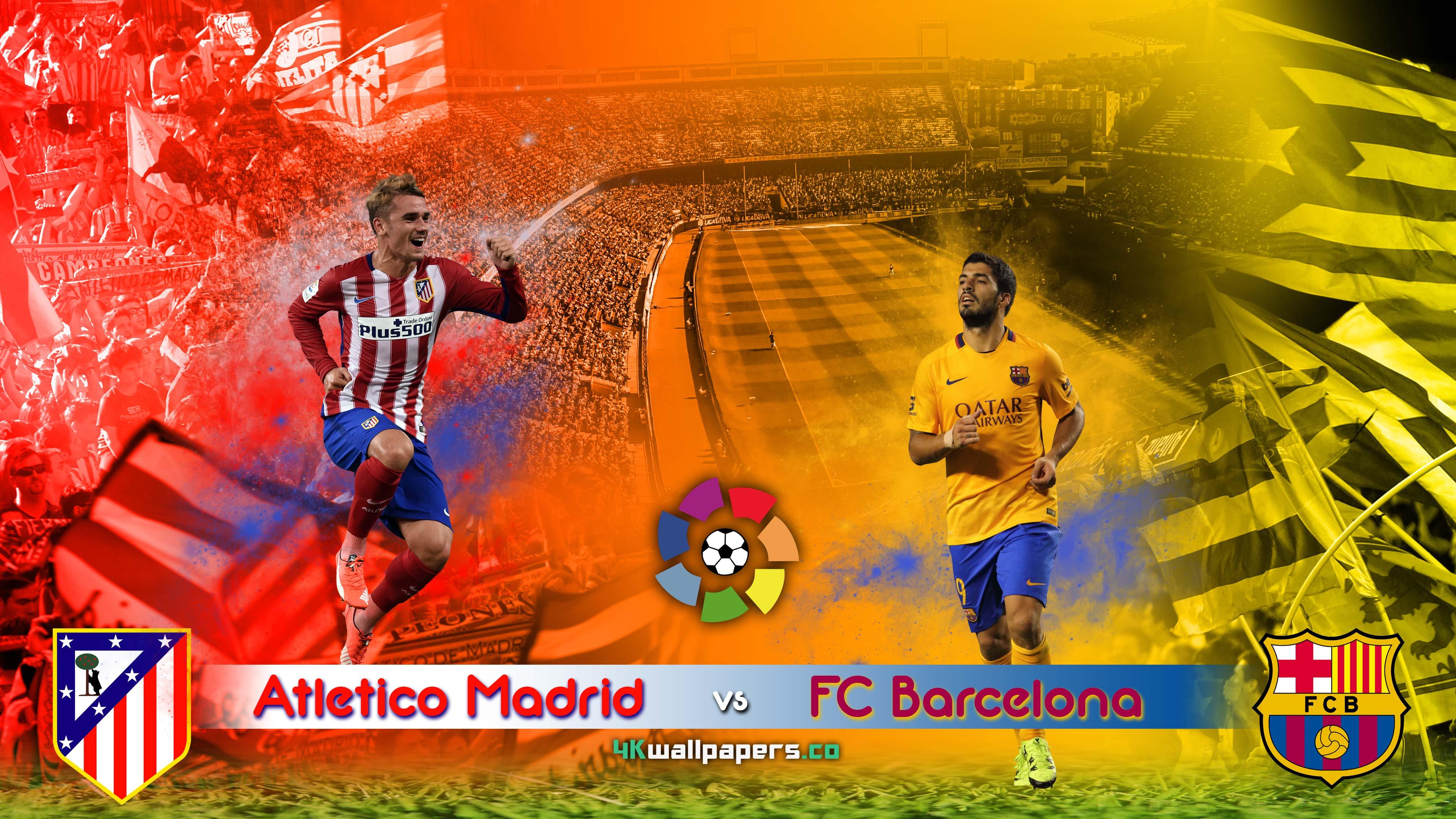 Atletico Madrid v FC Barcelona 12 September Liga BBVA 4k 3840x2160
