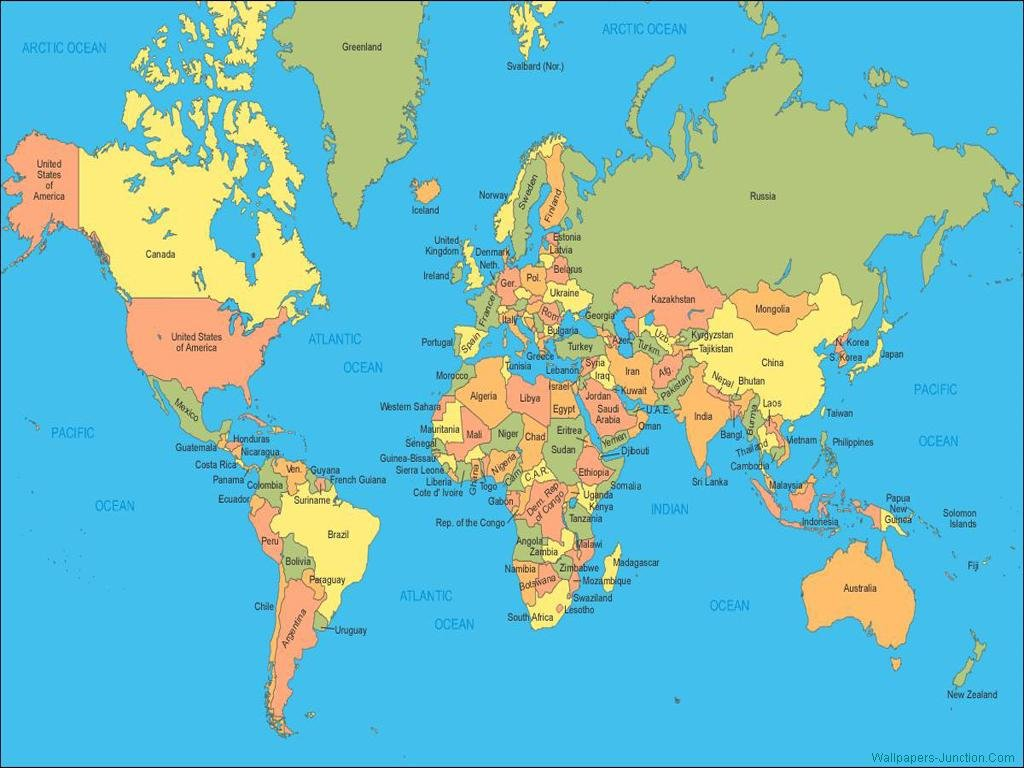 World Map Wallpapers 1024x768