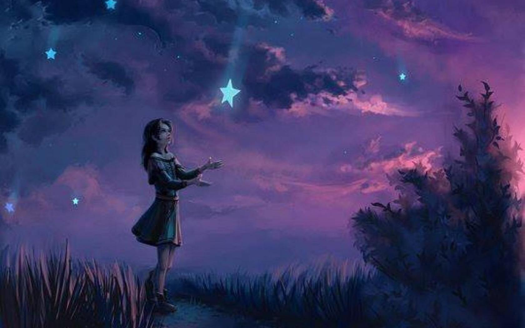 Pics Photos   Night Shooting Star Hd Wallpaper 1680x1050