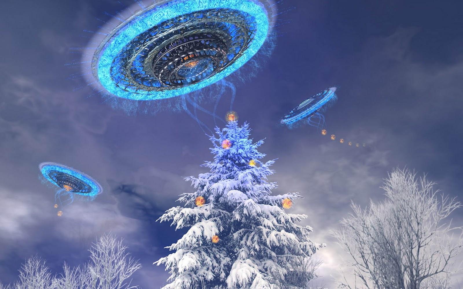 s1600hd 3d ufo achtergrond in de winter hd ufo wallpaperjpg 1600x1000