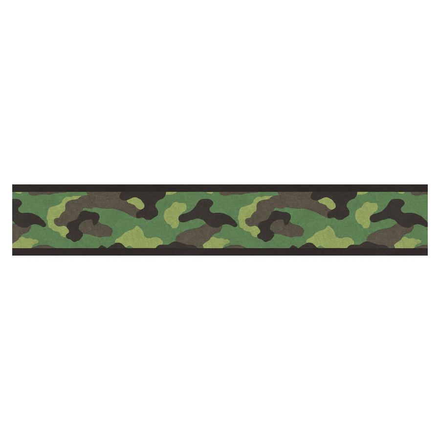 Shop Village Camouflage Wallpaper Border at Lowescom 900x900