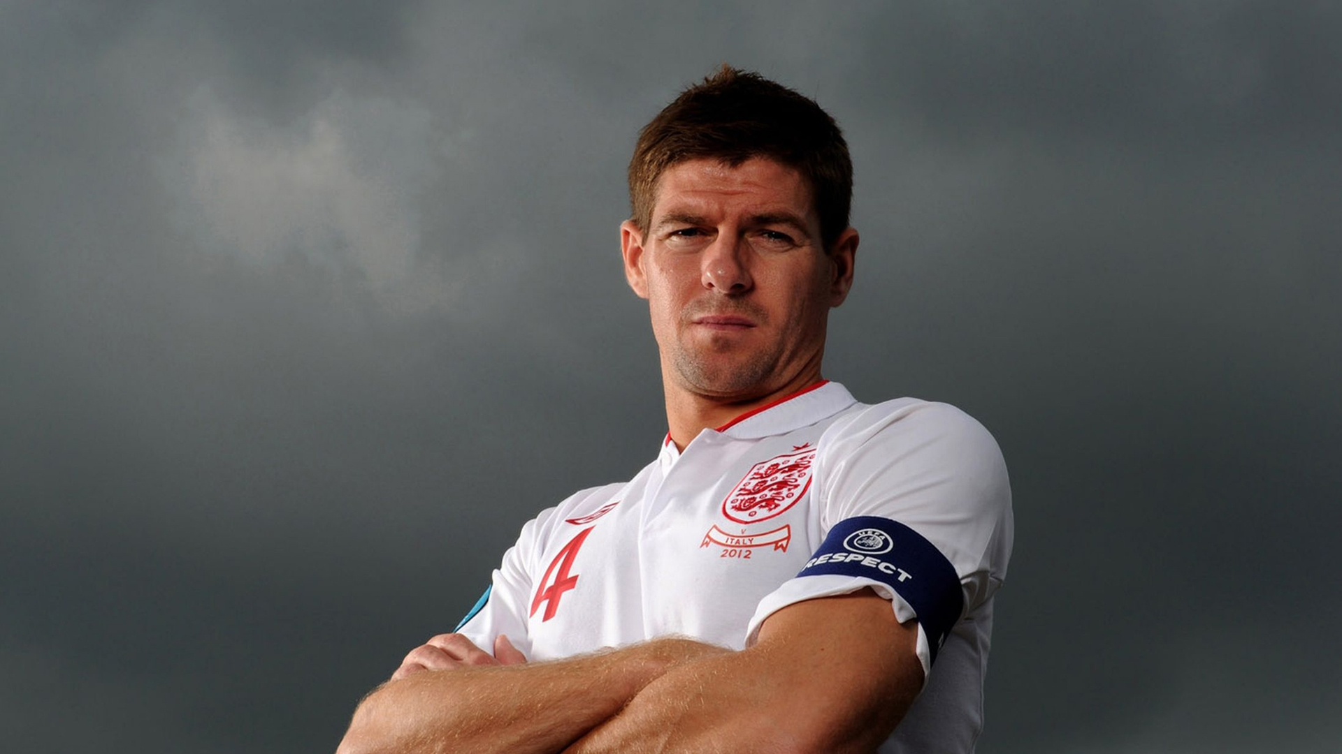 Quotes on Steven Gerrard Wet grass white posts bulging nets 1920x1080