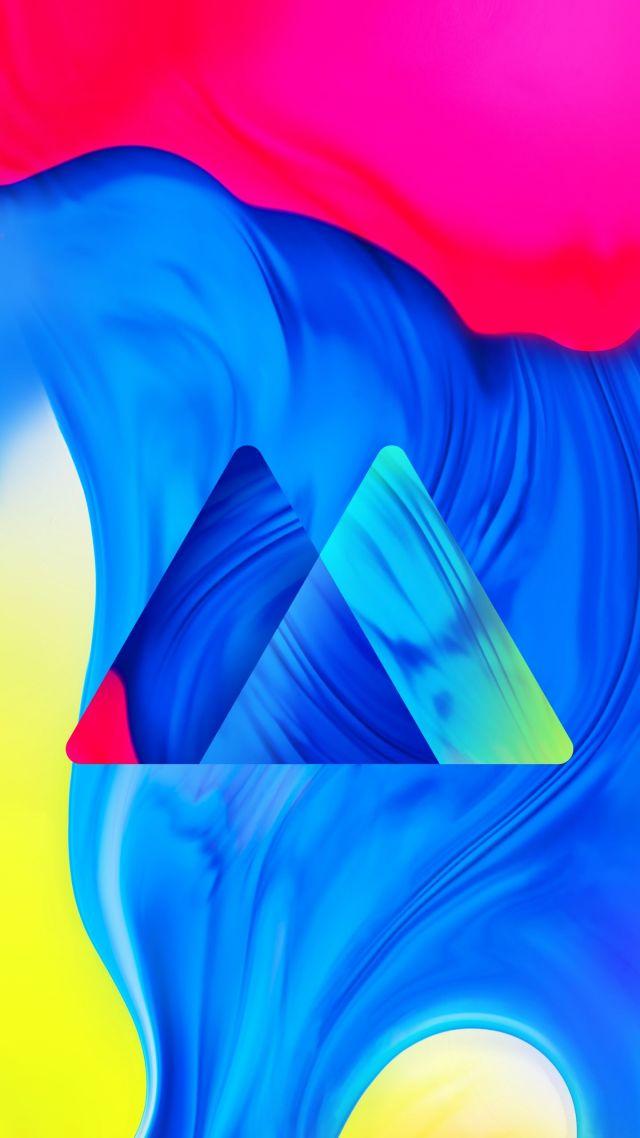 Wallpaper Samsung Galaxy M10 abstract colorful HD OS 21445 640x1138
