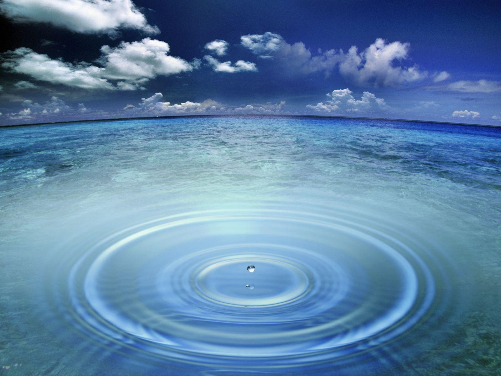 Ocean Water Drop Wallpapers Image 1600x1200