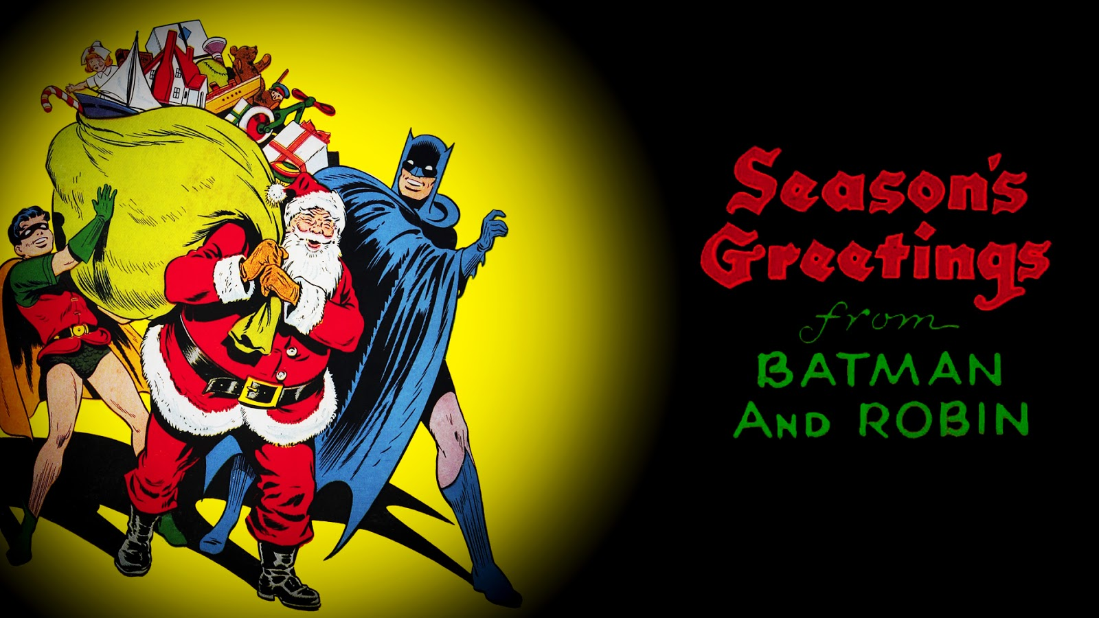 Neato Coolville COMIC BOOK WALLAPER CHRISTMAS COVERS 1600x900