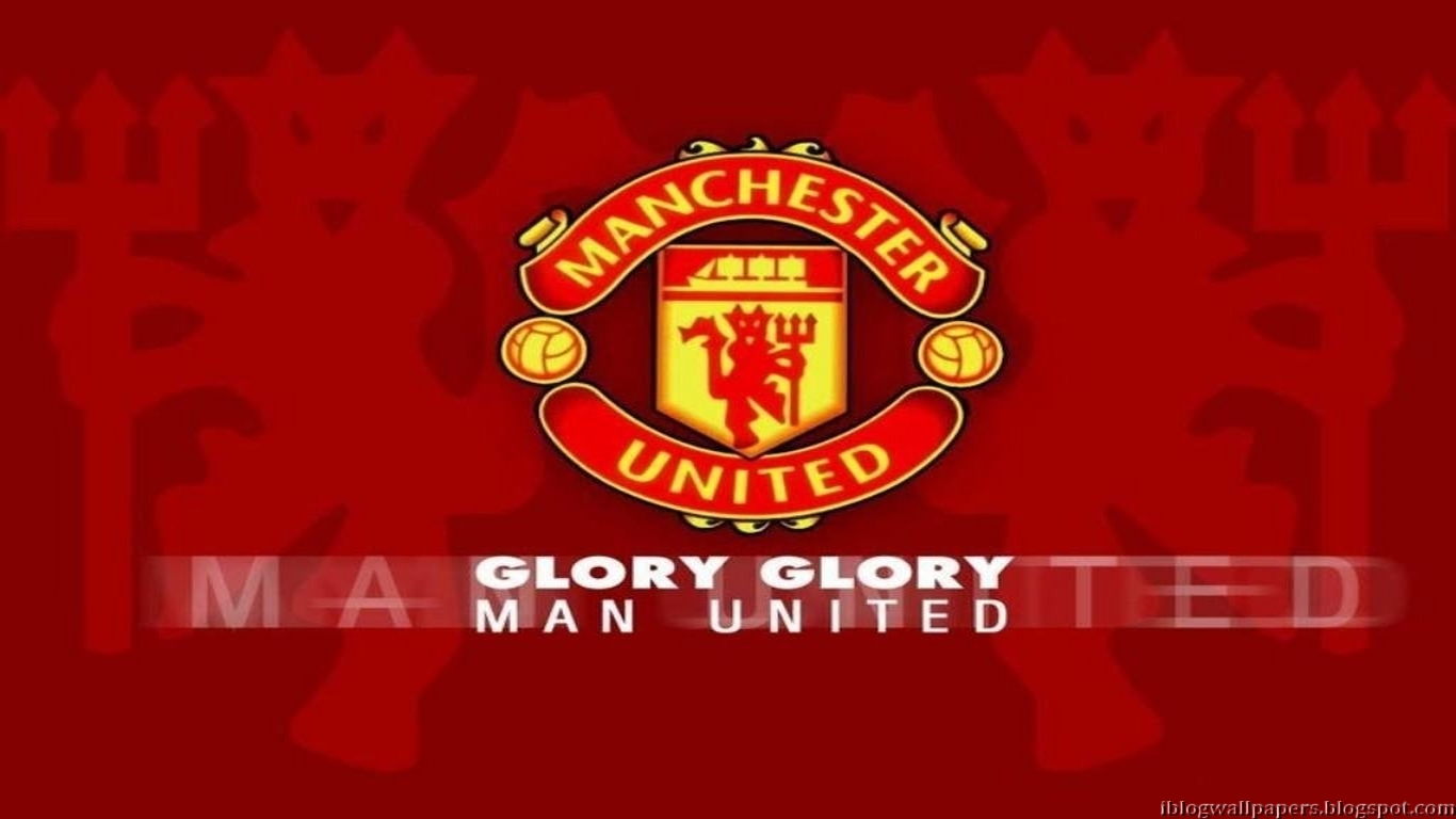 Manchester United Logo Wallpapers Collection 2 Download 1366x768