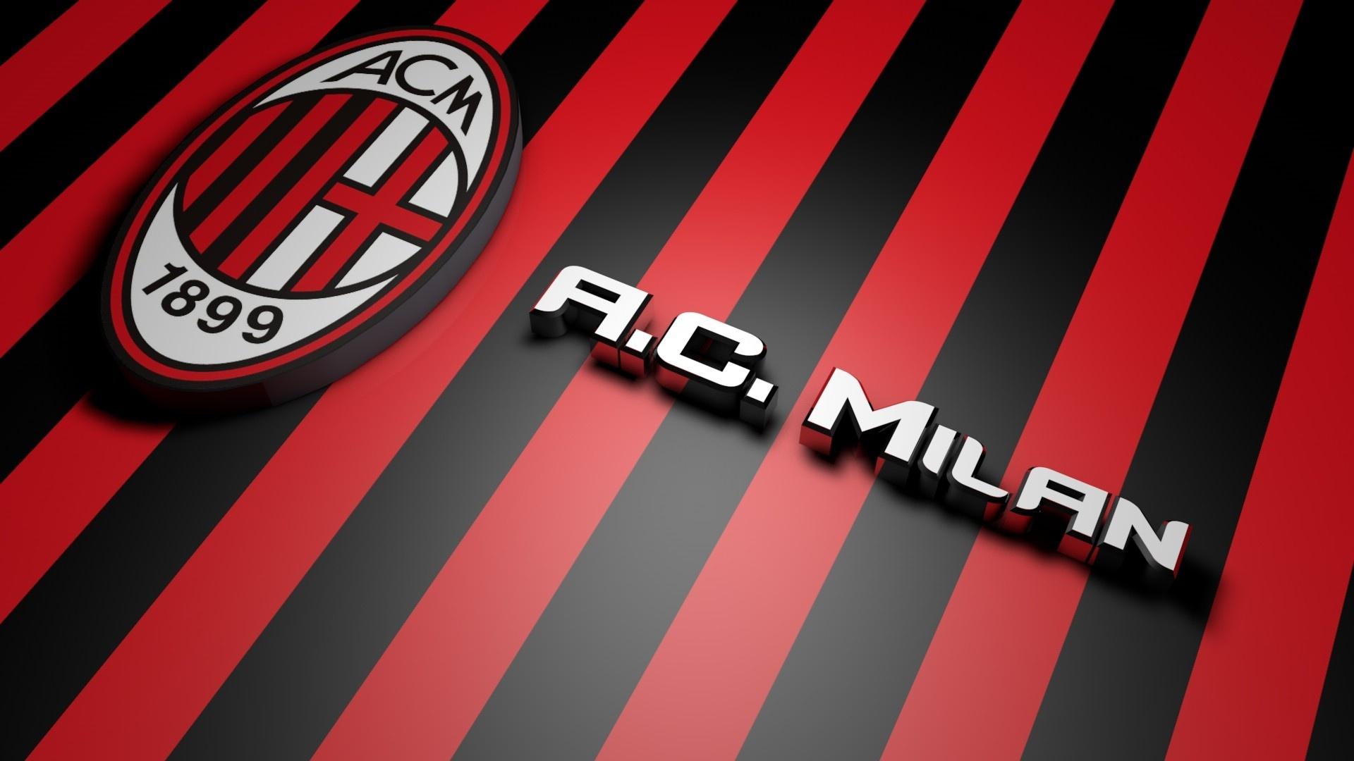 AC Milan Football Logo HD Wallpaper of Football 1920x1080