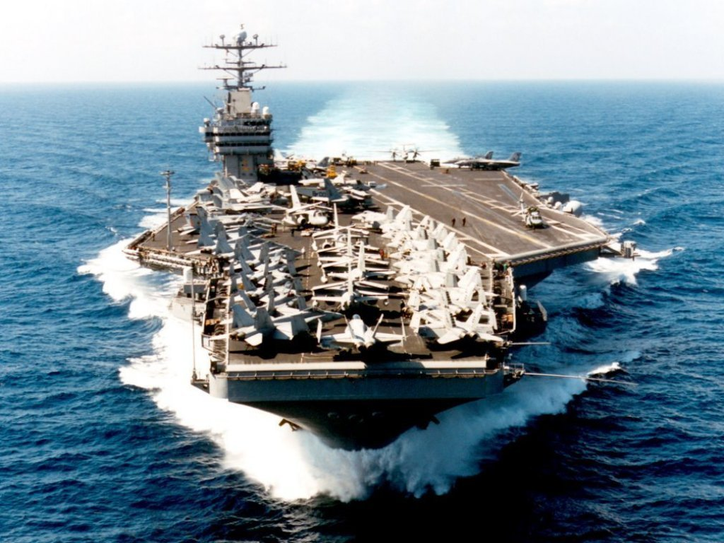 Aircraft Carrier George Washington US Navy computer wallpaper 1024x768