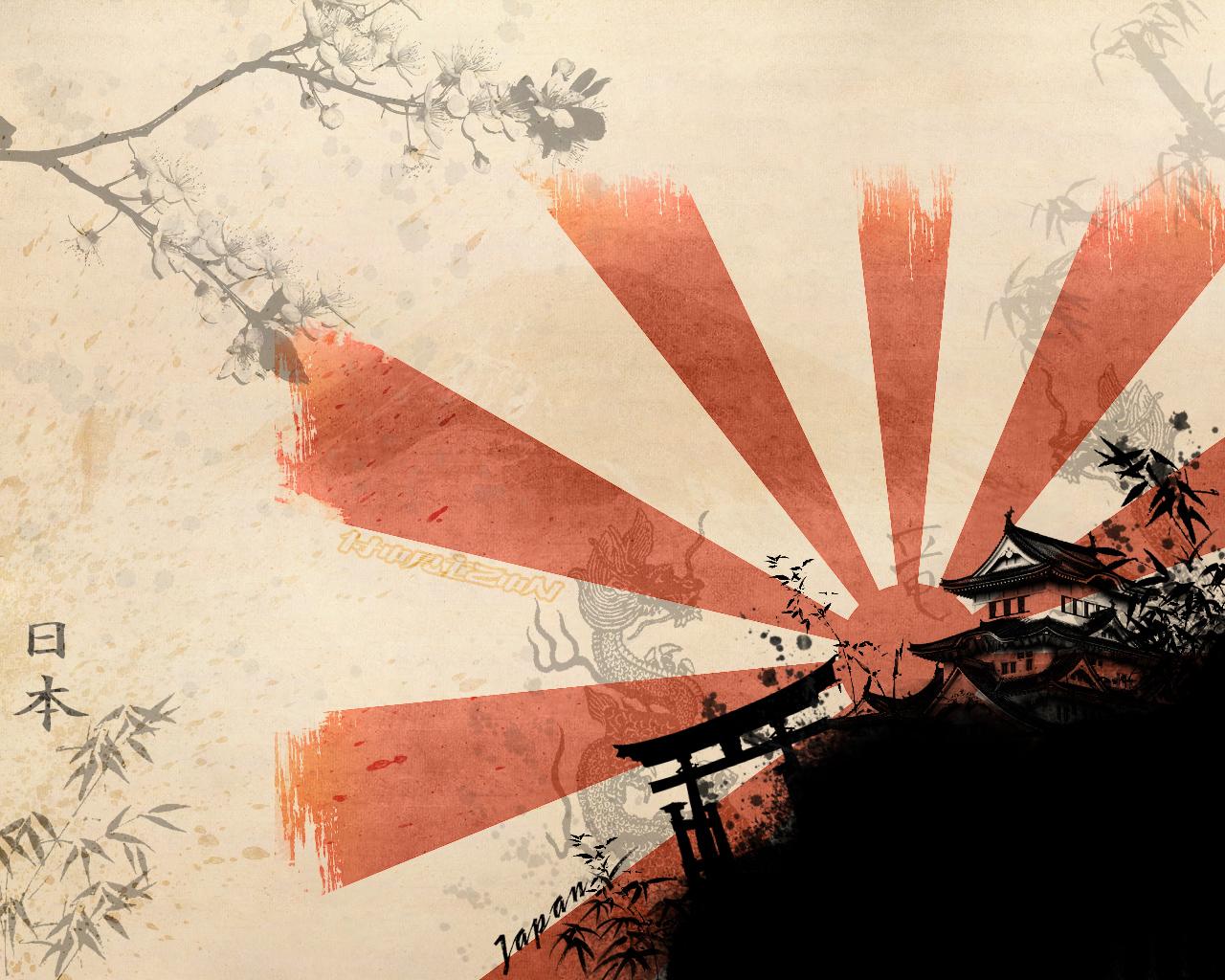 SamuraiJapaneseWallArtandCherryBlossomArtWallpaper japanjpg 1280x1024