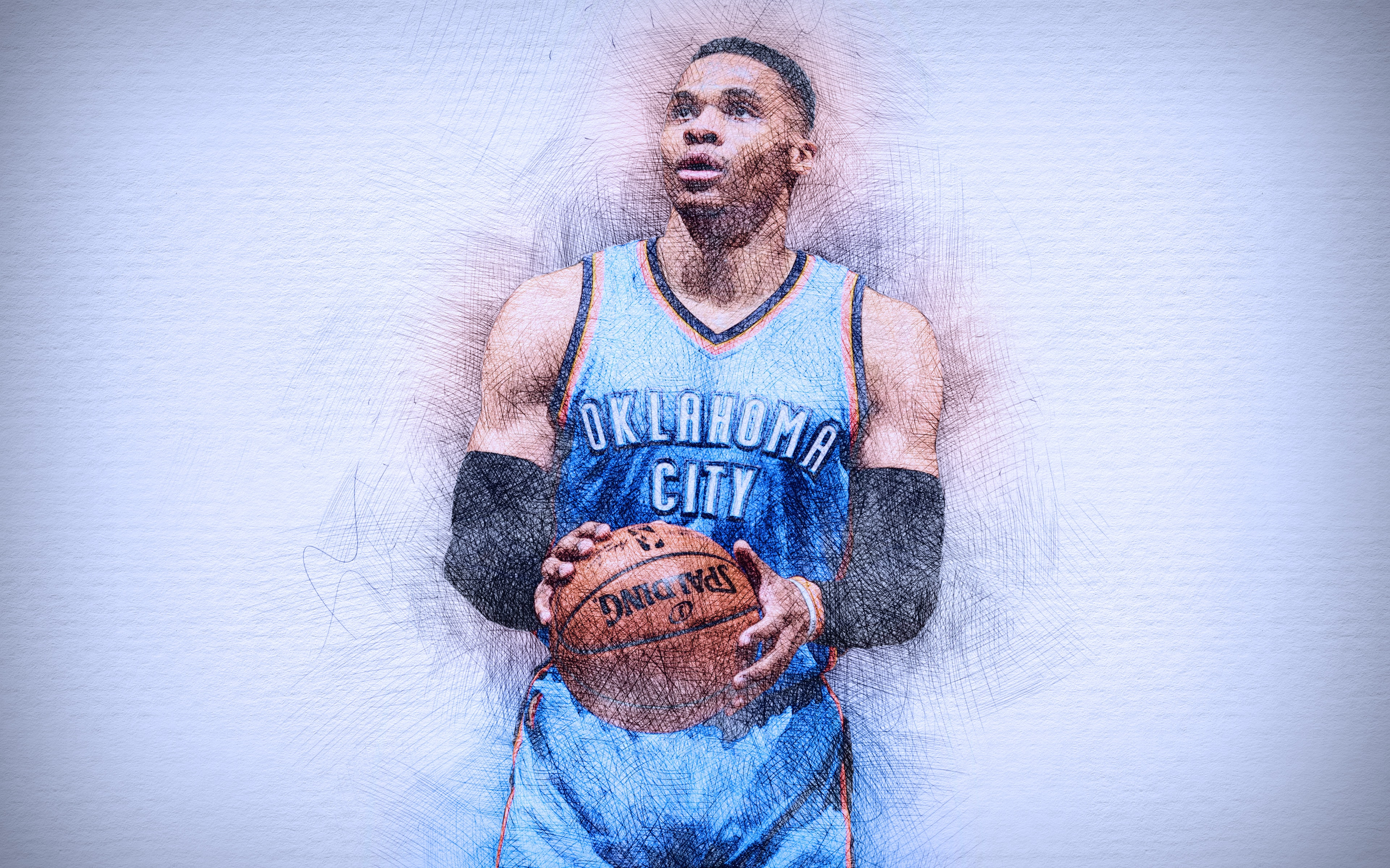 Wallpaper of NBA Oklahoma City Thunder Russell Westbrook 3840x2400